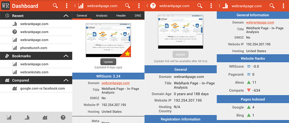 WebRank SEO Native Android App